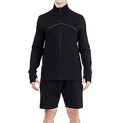 HIIT - Black zip through funnel neck sweatshirt