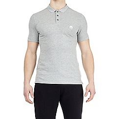 HIIT - Grey muscle fit stretch polo shirt