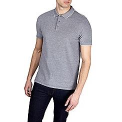 Burton - Grey two tone polo shirt