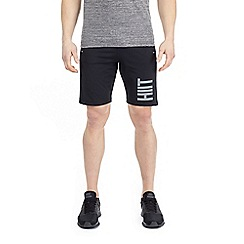 HIIT - Black lightweight panelled mesh shorts