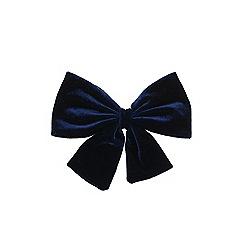 Outfit Kids - Girls' navy large velvet bow clip