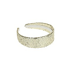 Outfit Kids - Girls' gold wide glitter Alice band