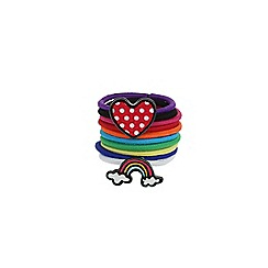 Outfit Kids - Girls' rainbow motif bobble pack