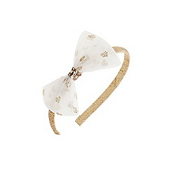 Outfit Kids - Girls' gold glitter bow Alice band