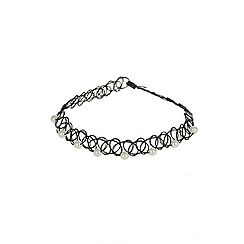 Outfit Kids - Girls' black pearl tattoo choker necklace