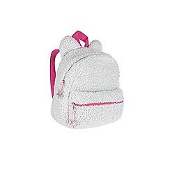 Outfit Kids - Girls' cream bear rucksack