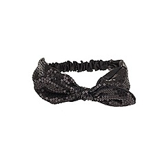Outfit Kids - Girls' black sequin bow headband