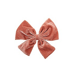 Outfit Kids - Girls' pink large velvet bow clip