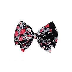 Outfit Kids - Girls' black large velvet bow clip