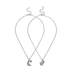 Outfit Kids - Girls' silver best friend necklaces