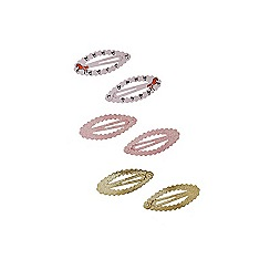 Outfit Kids - Girls' pink oval glitter snaps