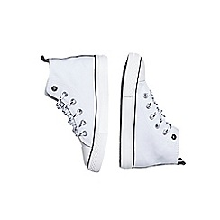 Outfit Kids - Boys' white canvas high top trainers