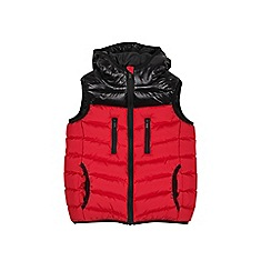 Outfit Kids - Boys' red hooded gilet