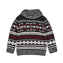 Outfit Kids - Boys' ecru fair isle crew neck jumper
