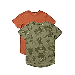 Outfit Kids - 2 pack boys' khaki and orange short sleeve t-shirts
