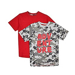 Outfit Kids - 2 pack boys' assorted short sleeve 'Adventure' t-shirts