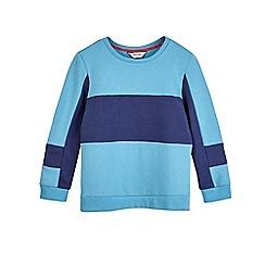 Outfit Kids - Boys' blue retro sweatshirt