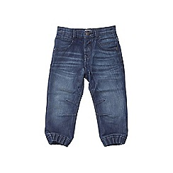 Outfit Kids - Boys' blue mid wash cuffed hem jeans