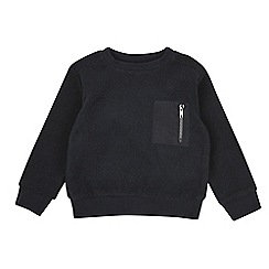 Outfit Kids - Boys' navy textured sweatshirt