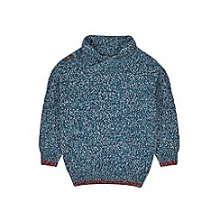 Outfit Kids - Boys' blue shawl collar jumper