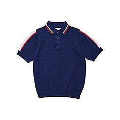 Outfit Kids - Boys' navy knitted polo shirt