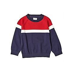 Outfit Kids - Boys' red panelled knitted jumper