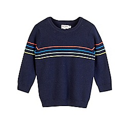 Outfit Kids - Boys' navy striped knitted jumper