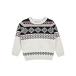 Outfit Kids - Boys' cream fair isle knitted jumper