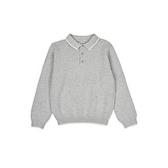 Outfit Kids - Boys' long sleeve grey polo shirt