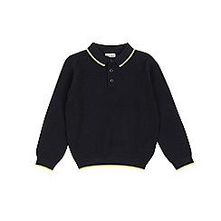 Outfit Kids - Boys' long sleeve navy polo shirt