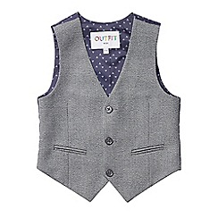 Outfit Kids - Boys' grey textured waistcoat