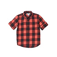 Outfit Kids - Boys' red long sleeve checked shirt