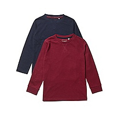 Outfit Kids - 2 pack boys' red and navy long sleeve t-shirts