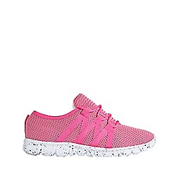 Outfit Kids - Girls' pink knitted sports trainers