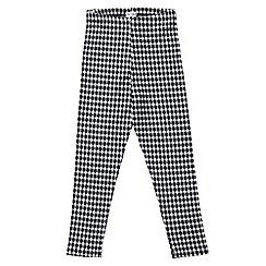 Outfit Kids - Girls' black gingham check leggings
