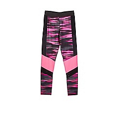 Outfit Kids - Girls' black sports panelled leggings