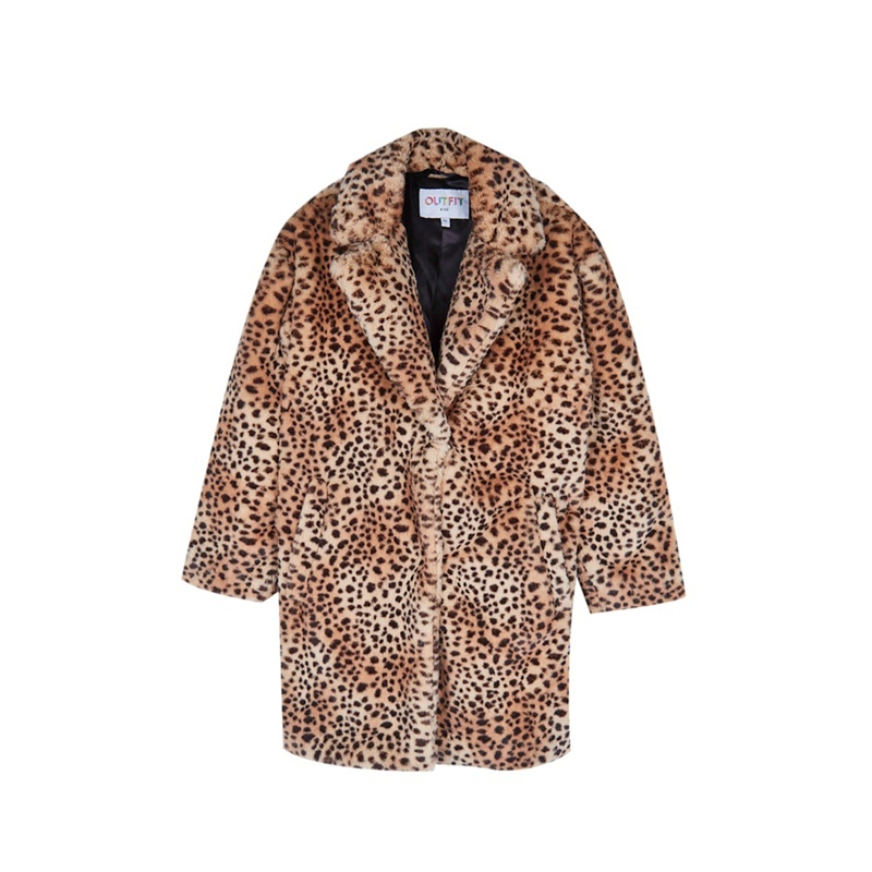 ff91e8284905 Outfit Kids - Girls  Brown Animal Print Jacket - Mirror Online