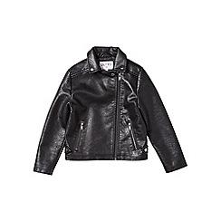 Outfit Kids - Girls' black biker jacket