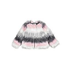 Outfit Kids - Girls' grey faux fur coat