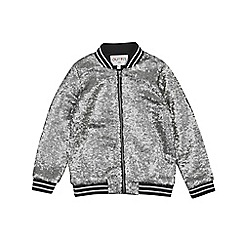 Outfit Kids - Girls' silver sequin bomber jacket