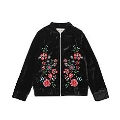 Outfit Kids - Girls' black floral bomber jacket