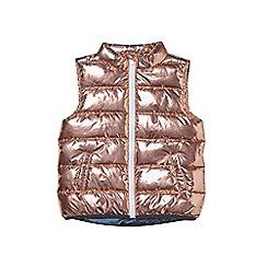 Outfit Kids - Girls' rose gold metallic gilet