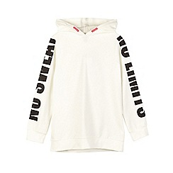Outfit Kids - Girls' white longline sports hoodie