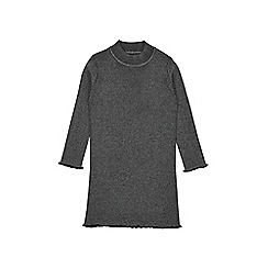 Outfit Kids - Girls' black ribbed dress