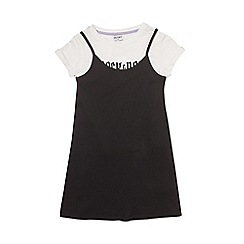 Outfit Kids - Girls' black hybrid dress