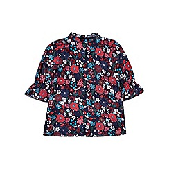 Outfit Kids - Girls' black floral tunic dress
