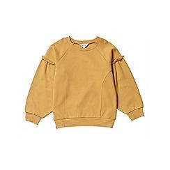 Outfit Kids - Girls' yellow oversized sleeve sweatshirt