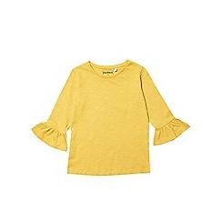 Outfit Kids - Girls' yellow ruffle sleeve top