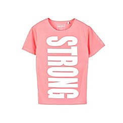 Outfit Kids - Girls' pink 'strong' slogan top
