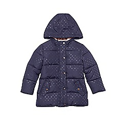 Outfit Kids - Girls' navy padded spot coat